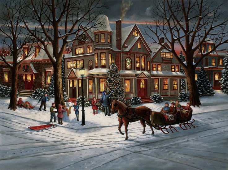 """Victorian Christmas"" by H. Hargrove"