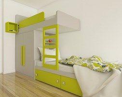 Bunk bed with wardrobe .Łóżko piętrowe z szafą. Meble firmy Colorato. www.colorato.pl
