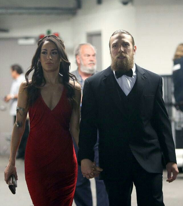 Bryan Danielson (WWE Superstar Daniel Bryan) and his wife Brianna Garcia Danielson at the 2015 WWE Hall of Fame Ceremony