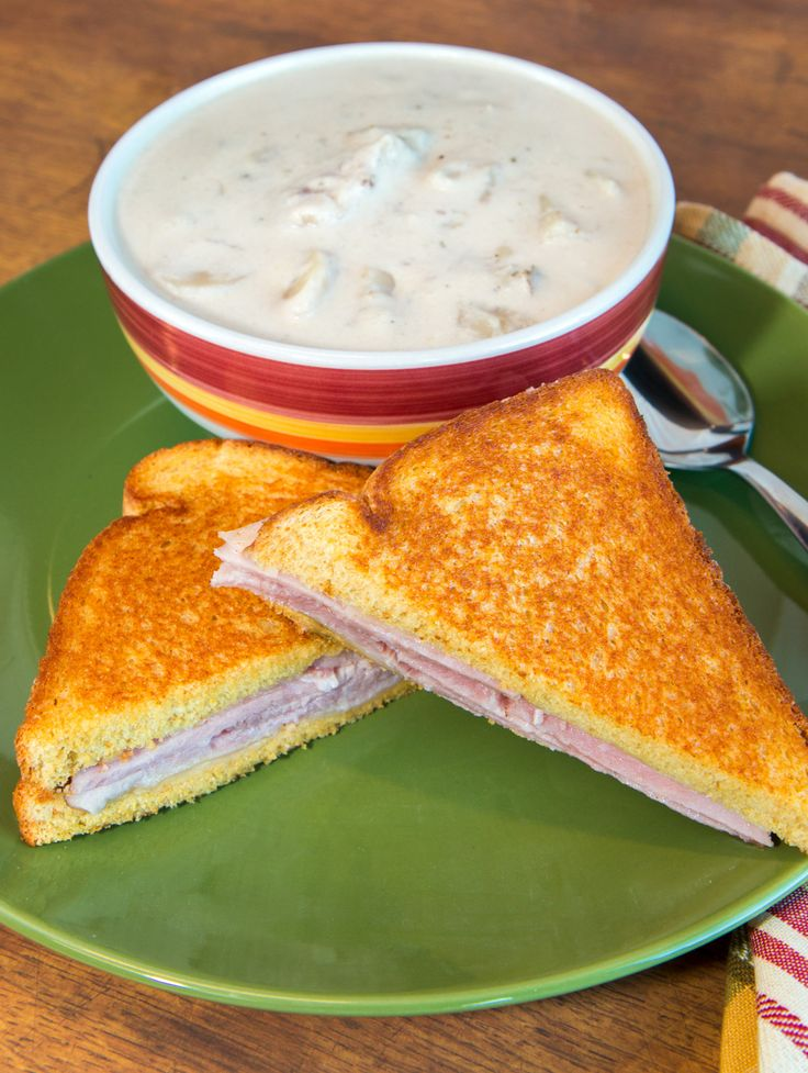 Ham and Cheese Grilled Cheese on Martin's Famous Potato Bread!  Nothing beats this classic sandwich!