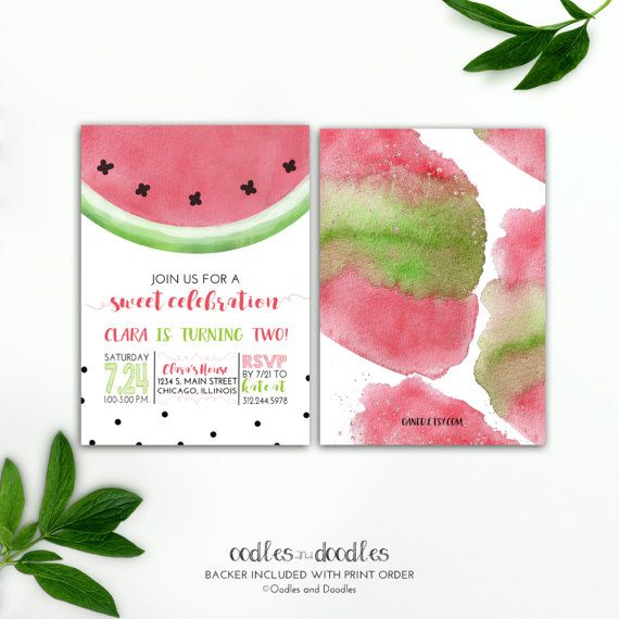 66 best watermelon party images on pinterest | watermelon birthday, Birthday invitations