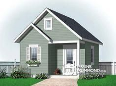 Dessins Drummond - W2963-16. Belle petite remise qui s'aménage bien dans une cour arrière. Nice shed for your back yard !