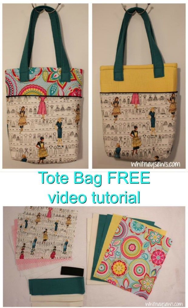 Learn How To Sew A Beautiful Lined Tote Bag With Outer Pockets On Both The Front And Back With This Outstanding Free Vid Tote Bags Sewing Modern Bag Sewing Bag
