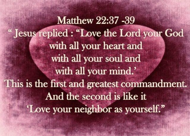 Matthew 22: 37-39 | Scripture verses, Bible study scripture, Bible love