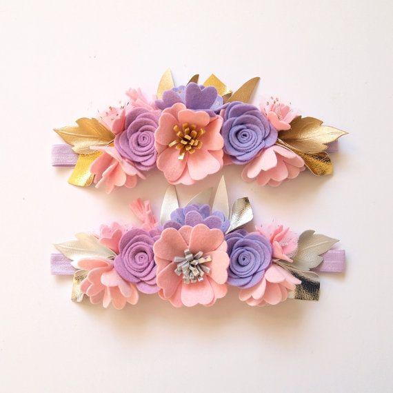 Dreamer flower crown whimsical/ felt flower by kireihandmade