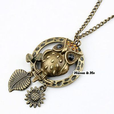 Forever21 Korean Retro Personality Fashion Flexible Owl Pendant Sweater Chain General. Small and catchy. REPIN if you like it.😍 Only 27.5 IDR