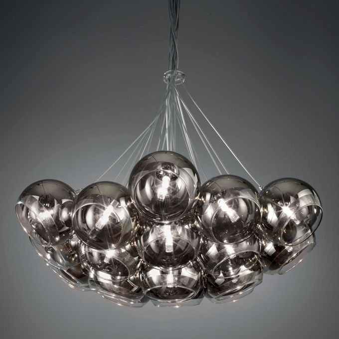 LAMPADARIO 'SFERE' O1192 Lampadario in vetro, dimensioni 35X150 h. cm. Mascagni Casa