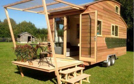 76 besten wohnen bauwagen wohnwagen bilder auf pinterest kleine h user haus pl ne und rund. Black Bedroom Furniture Sets. Home Design Ideas