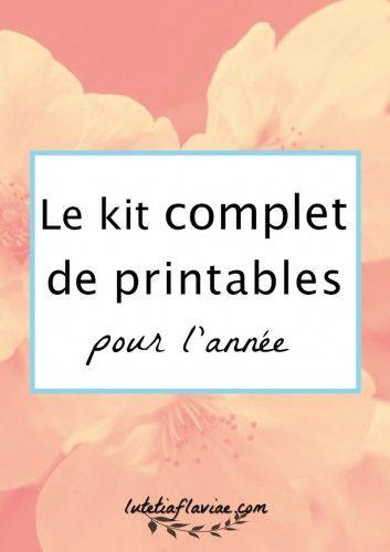 Découvrez mon Kit de printables pour l'année gratuitement pour vous organiser et vous inspirer au fil des saisons avec 40+ listes à imprimer !