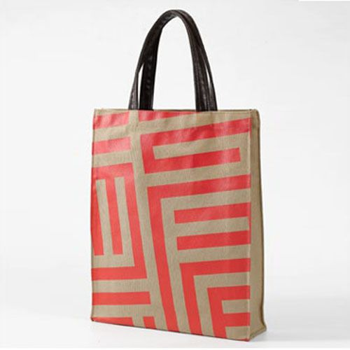 Modern Desing Canvas Woman TOTE BAG Shoulder Bag Grey Begie