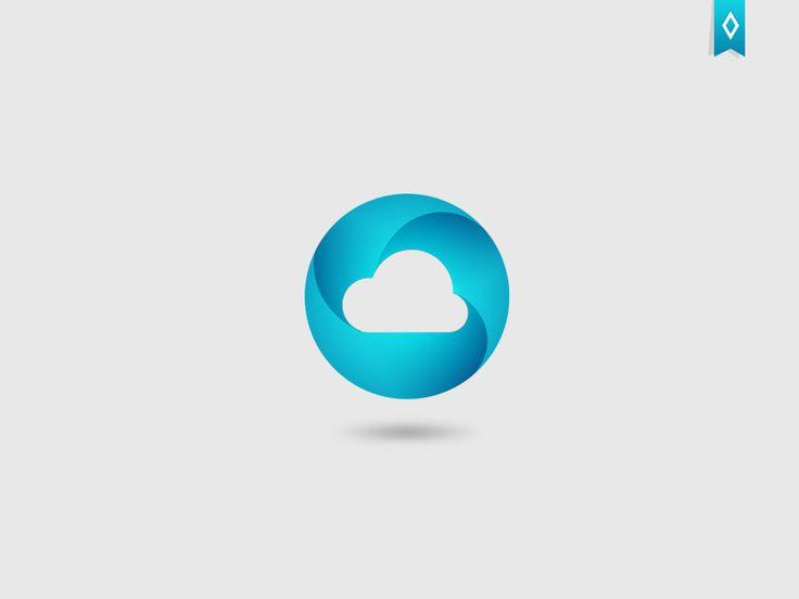 Blue Circle Logo by Vasil Enev   topvase