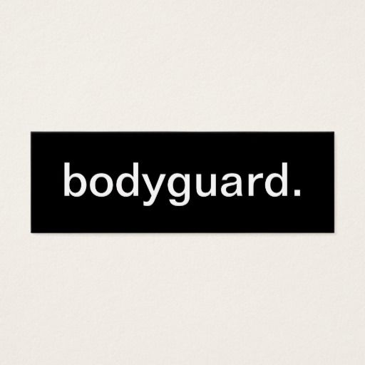 191 best security guard business cards images on pinterest for Bodyguard business cards