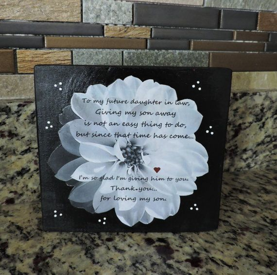 Future Daughter in Law Gift | Welcome To The Family Gift ...