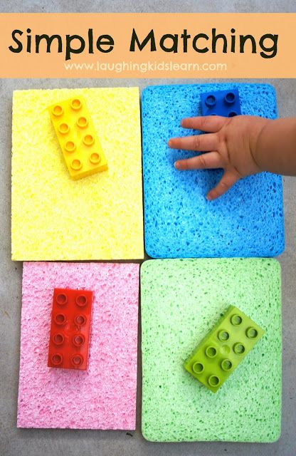 Learn with Play at home: Simple Toddler Colour Matching Activity.