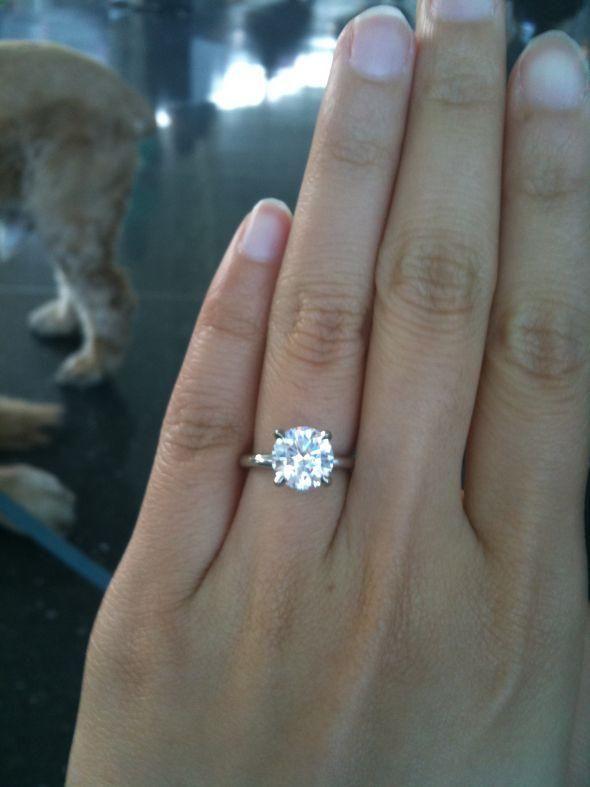 2 carat engagement rings on hand 46 - 2 Carat Wedding Ring