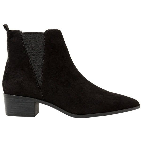MANGO Elastic Panels Ankle Boot ($45) ❤ liked on Polyvore featuring shoes, boots, ankle booties, sapatos, ankle boots, обувь, mid heel booties, elastic ankle boots, pointy boots and pointy booties