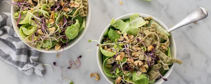 WARM SPROUTED SALAD WITH MUNG BEAN FETTUCCINE - Ceres - Organic Food Distributors - Ceres Organics