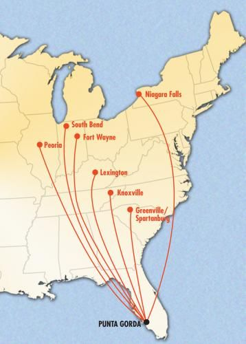Find a flight in to Punta Gorda from one of these destinations and enjoy the paradise we call home.
