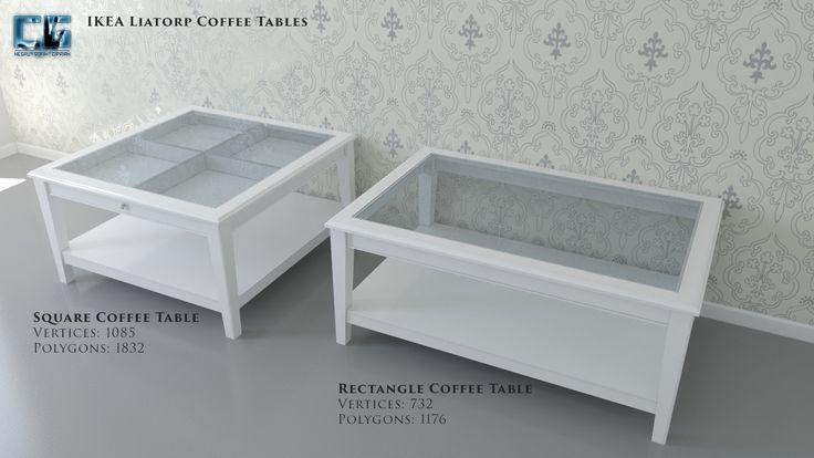 3D Model Ikea Liatorp Coffee Tables - 3D Model