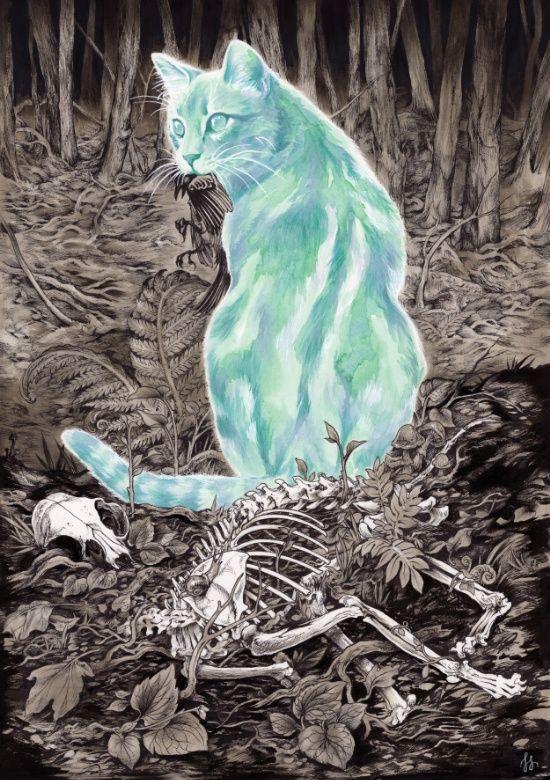 lesstalkmoreillustration:  Fioski Ghost Cat