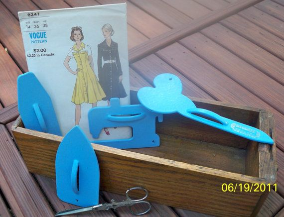 Vintage June Tailor Blue Pattern Weights 4 By