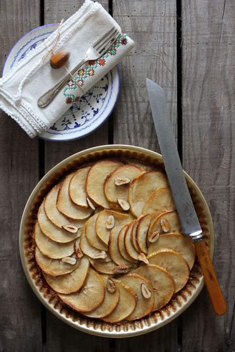 Apple & Cobnut Tart (with spelt flour crust) - Great British Chefs