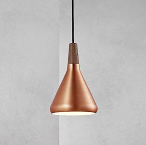 Scandinavian Brushed Copper or Brushed Silver Pendant Light