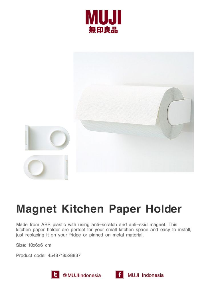 [Magnet Kitchen Paper Holder] made from ABS plastic with anti-scratch & anti-skid magnet. Perfect for small kitchen.