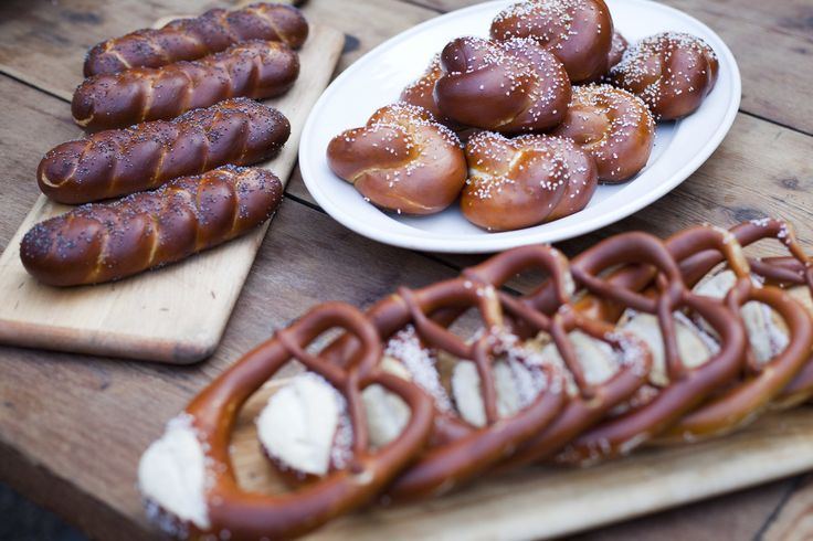 Bavarian pretzels - sub dairy ingredients with non-dairy. Can be prepared the evening ahead.