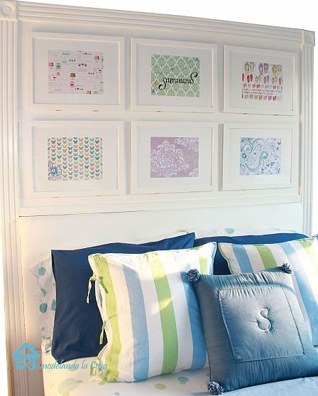 17 best ideas about picture frame headboard on pinterest for Arts and crafts headboard