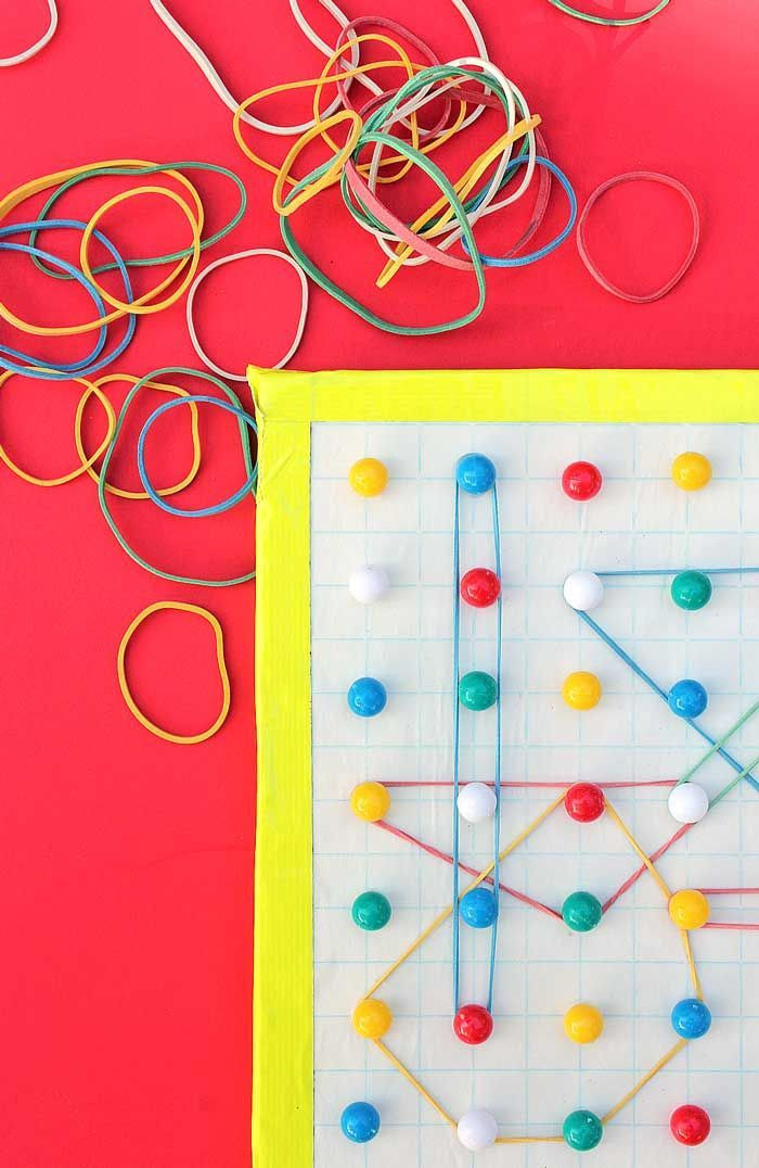 Make the easiest DIY geoboard ever and explore concepts like area and perimeter with kids.