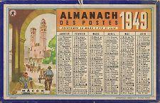 CALENDRIER ALMANACH DES POSTES PTT 1949 ILLUSTRATIONS NIMES MACON