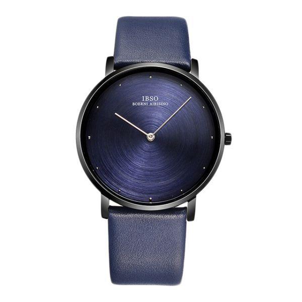 اي بي اس او ساعة عملية كاجوال رجال انالوج بعقارب جلد طبيعي 2282l Watches For Men Leather Watch Quartz Watch