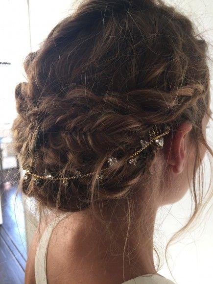 Olivia Palermo braided updo