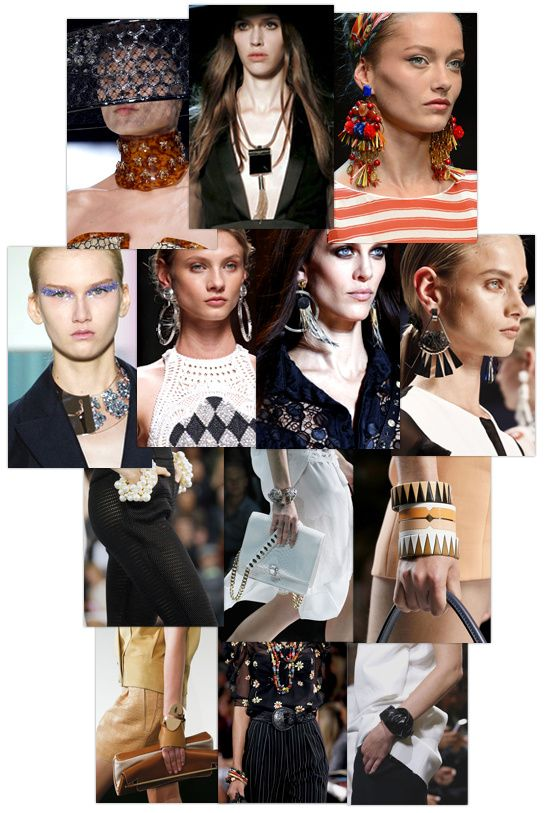 Eighties criollos en Balmain, perlas de gran tamaño Chanel, rosarios manera Madonna en Jean Paul Gaultier ... Son tantos detalles llamativos preestrenos a opción de los desfiles de vals que se imprimen en sus mentes. Accesorio sublimar una silueta o que causan la urgencia de aprovechar incluso antes de su llegada a la tienda, he aquí un resumen de las tendencias de la joyería para recordar esta Semana de la Moda Primavera-Verano 2013.