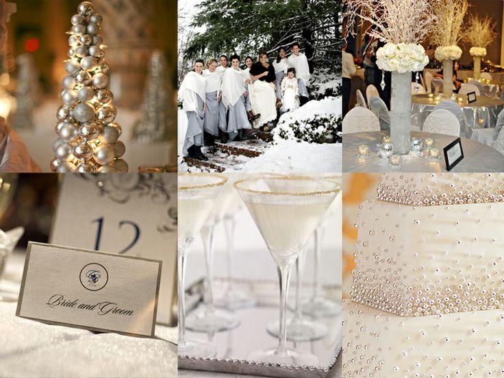 White & Ivory Christmas Wedding Ideas