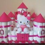 regalos para bebes castillo de pañales