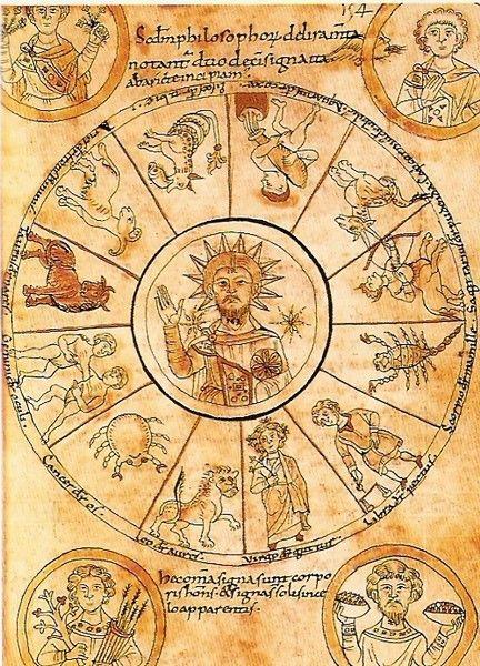 Cristo al centro dello Zodiaco con le 4 Stagioni (Italia del Nord, Secolo XI)