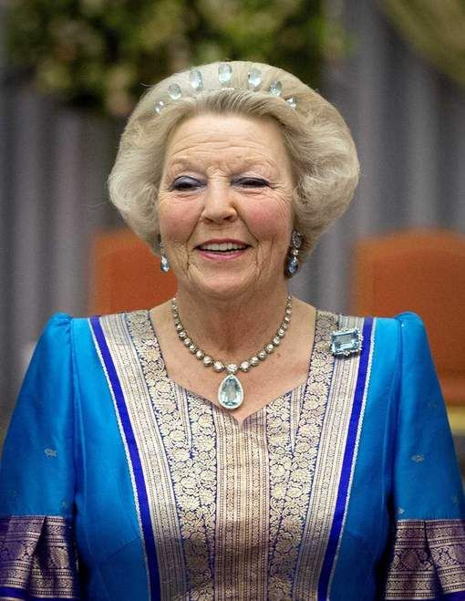 Queen Juliana passed the tiara, and the rest of the parure, down to her eldest daugther, Beatrice, though it does tend to get somewhat lost in her hair style.