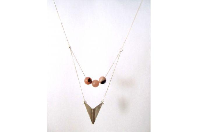 Sterling Silver Arrow & Semi-precious stones by Meraki Jewellery Design on hellopretty.co.za