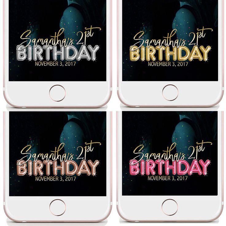 Birthday Geofilter, Snapchat Birthday, Birthday Geo filter, Birthday Snapchat Filter, Geofilter Birthday, Balloon Geofilter, Birthday Snap http://etsy.me/2zk2Vya #papergoods #pink #birthday #birthdaygeofilter #snapchatbirthday #geofilterbirthday #birthdaysnapchat #snapchatfilter