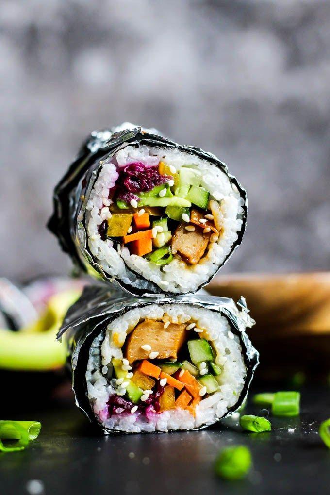 Veganer Teriyaki Sushi Burrito