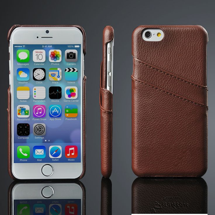 iphone 7 phone cases brown leather