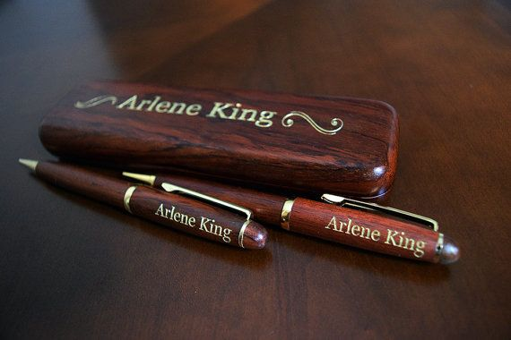 Custom Rosewood Maple or Bamboo Pen and by Danielcustomizedgift