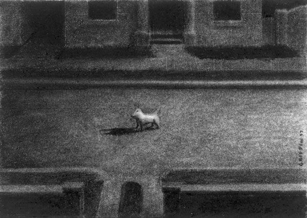 That Dog Barked All Night - charcoal - 1997 - Roger Griffin