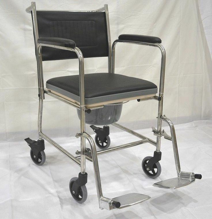 Αναπηρικό Αμαξίδιο με WC κατάλληλο και για Μπάνιο. Σκελετός από ανοξείδωτο ατσάλι!