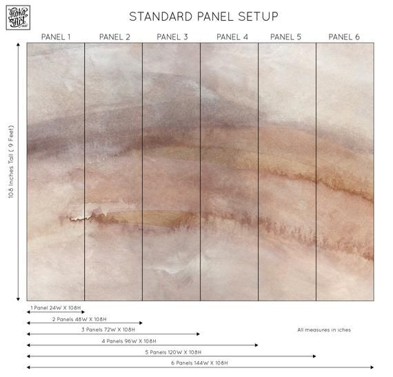 Watercolor Abstract Minimalist Texture Large Scale Self Adhesive