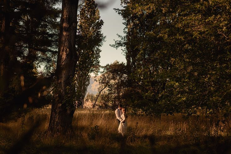 Wedding portrait of Lucy and Reuben | Flaxmere Gardens, North Canterbury, New Zealand