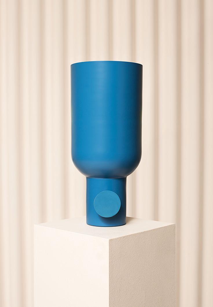 UK designerMax Cairns' new, spun-aluminum Tint lights, inspired by off-the-shelf plumbing parts.