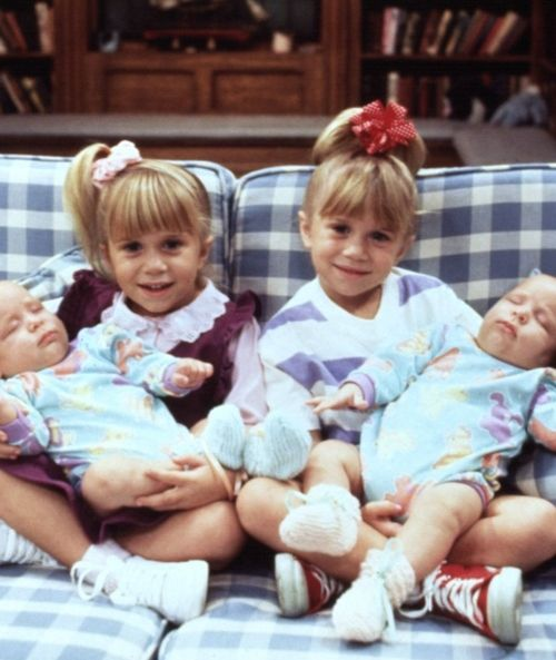Aww Mary-Kate and Ashley when they were on Full House as Michelle Tanner